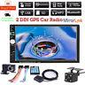 """7"""" 2 DIN Car Radio Stereo GPS Navi Bluetooth MP5 Player USB SD AUX Camera"""