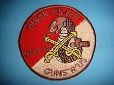 PATCH US Q TROOP 4th SQ 3rd ARMORED CAVALRY REGT  QUICK SILVER GUNS R US