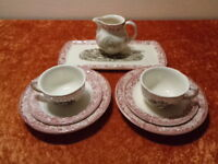 8 PC Convolute from Coffee Wächtersbach Ceramics - Country House Style - Vintage