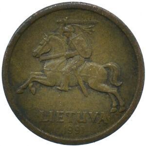 1991 LITHUANIA / LIETUVA / 10 CENTU BEAUTIFUL COLLECTIBLE COIN    #WT29793