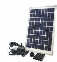 AEO Solar Water Pump KIT: DC Brushless 196GpH Water Pump w/ 10W Solar Panel