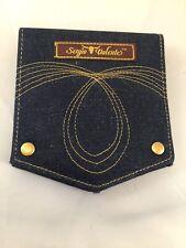 Sergio Valente Wallet Empty Grooming Kit Holder Denim Pocket Look M19