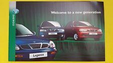Daewoo Leganza Nubira Lanos range car sales brochure catalogue October 1997 MINT