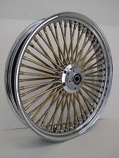 DNA MAMMOTH 21x3.5 FAT 52 GOLD SPOKE FRONT WHEEL SOFTAIL DELUXE HERITAGE HARLEY