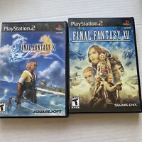 Final Fantasy X & XII PS2 Two Game Bundle Complete Tested Fast Shipping!