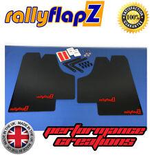 rallyflapz Ford Focus RS MK2 Stückzahl: 4 Schmutzfänger & Schrauben schwarz 4mm