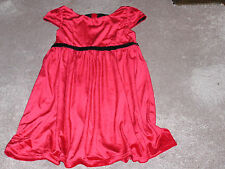 GIRLS GEORGE SHORT SLEEVE  red  DRESS SIZE X-LARGE  14-16