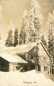 Lodge Winter Snow 1940s Tollgate Oregon RPPC Photo Postcard 20-14194