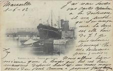 MARSEILLE 71 bassin des docks paquebot timbrée 1902