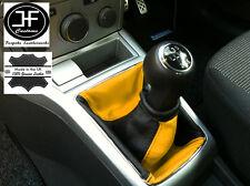 GIALLO nero si adatta Opel Vauxhall Astra H Mk5 Mkv STICK GEAR Ghetta in pelle