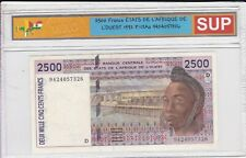 Set Of 3 Bills Of 2500-1000-500 Francs 1992-96-88 Sup-Unc