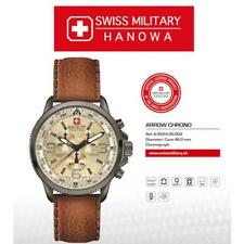 Swiss Military Hanowa Arrow Mens Leather Chronograph Watch 6-4224.30.002