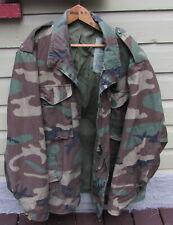 US Military Woodland Camouflage Cold Weather Field Coat Jacket Large Regular
