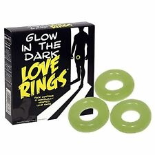 Novelty Sexy Mens Glow In The Dark Love Rings, Hen Stag Adults Gifts For Him