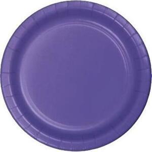 Purple 10 Inch Paper Plates 24 Per Pack Purple Tableware Decorations Supplies