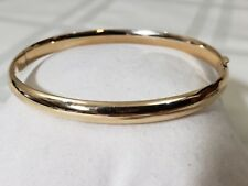 14K Yellow Gold Hinge Expandable Polished Bangle Bracelet 6.1 grams