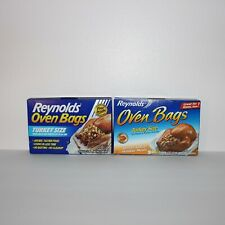 New listing Lot of 2 Reynolds Oven Bags Large Turkey Size Meats & Poultry 2pk - 4 Bags Total