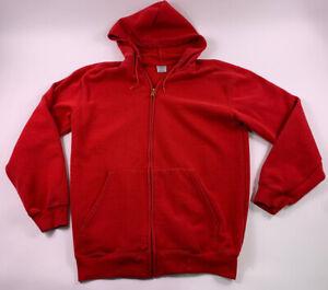 Vtg Mens Carhartt Full Zip Red Hoodie Sweatshirt Jacket Coat Rain Work Defender