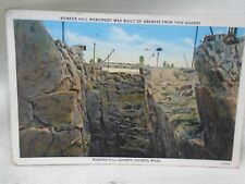 Bunker Hill Granite Quarry Quincy Mass Postcard1935 Postage Due Stamp Cancel