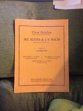 Bach Delécluse 6 Suites pour violoncelle transcription clarinette éditions Leduc