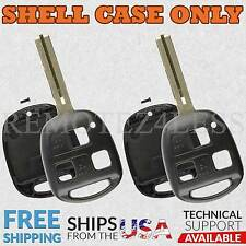 2 For 1998 1999 2000 2001 2002 2003 Lexus LS Remote Shell Case Car Key Fob Cover