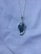 STERLING SILVER 925 & OPAL STONE NAUTICAL LG SHELL PENDANTMARINE SEALIFE FISH