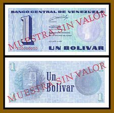 Venezuela 1 Bolivar, 1989 P-68s Specimen Unc