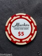 $5 Alhambra Casino Chip Aruba - Excellent Condition