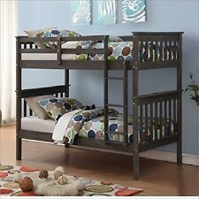 Donco Trading Co. 120-3BG/TT Twin/Twin Mission Bunk Bed Brushed Grey NEW