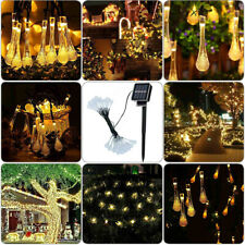 Christmas Solar Fairy String Strip Light Wedding Party Outdoor Garden Decor Lamp