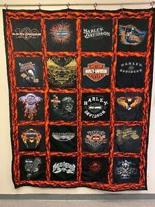 Harley Davidson T-Shirt Quilt Large Twin