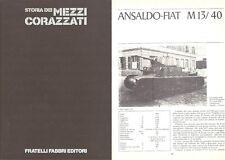 STORIA MEZZI CORAZZATI FABBRI TECNOLOGIE BATTAGLIE PROFILI 1977