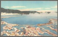 Sapphire Pool Biscuit Basin Yellowstone 1939 Linen PC by CT ART-COLORTONE UNUSED