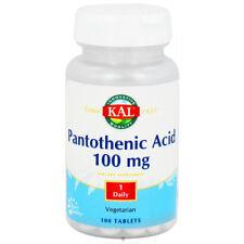 Kal - Pantothenic Acid, 100 Vegetarian Tablets (100 ml)