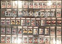 TOM BRADY ROOKIE HUGE LOT 57 GRADED 2000 RC. ALL BGS & PSA 9, 9.5, 10 AUTO 1/1