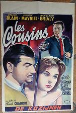 Cinema-Affiche originale belge - LES COUSINS Gérard Blain-CLAUDE CHABROL 36x56cm