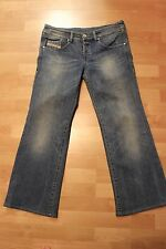 DIESEL INDUSTRY WOMENS VIXY RELAXED STRAIGHT FIT STRETCH LIGHT WASH JEANS SZ 29