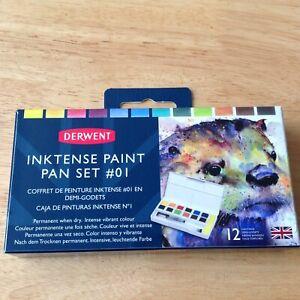 Derwent Inktense Professional Permanent Watercolour Paint Pan Set Brand New