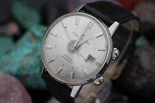 Vintage CITIZEN Alarm Date 21 Jewel Parashock Stainless Steel 36.5mm Dress Watch