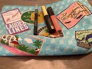 Estée Lauder Beauty Giftset-travel bag, lipgloss,,Mascara,eye Pencil- NEW