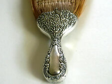 Antique Sterling Silver Floral & Scroll Repousse Handled Whisk Broom Brush 925