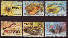 AUSTRALIA 2014 THINGS THAT STING SET OF 6 FINE USED