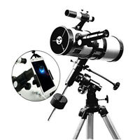 Visionking 114-1000 Reflector Astronomical Telescope & Smart Phone Adapter