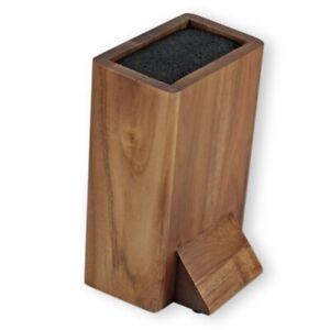 Messerblock ohne Messer Messerblock universal aus Holz leicht zu Reinigen