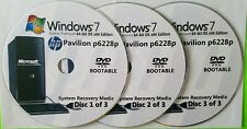 HP Pavilion p6228p Factory Recovery Media 3-Discs / Windows 7 Home 64-bit