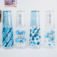 Summer breeze plastic reusable water bottles and cups on the go with lids