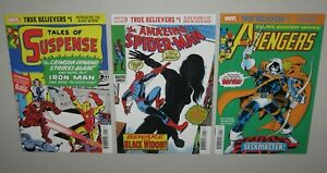 THREE Black Widow and Taskmaster True Believer reprints! NM (9.4) in MYLAR 10pix