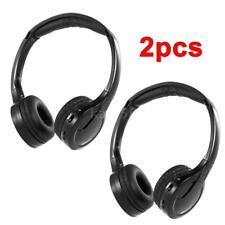 2PCS IR Dual-Channel Wireless Car Headphones Super Bass Music Headset Infrared
