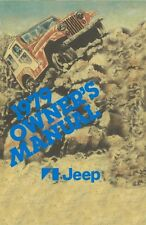 1979 Jeep Owners Manual User Guide