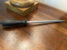 """Wusthof Dreizack Hartverchromt 9"""" Sharpening Honing Steel Rod 15"""" Overall"""